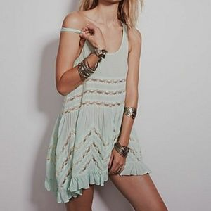 Free people voile and lace in mint L